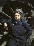 C. and Nw Rr, Mrs. Dorothy Lucke, Employed as a Wiper Photographic Print