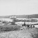 City Point, VA,Vicinity, Medical Supply Boat Planter at General Hospital Wharf Photographic Print