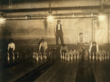 1:00 Am Pin Boys Working in Subway Bowling Alleys, 65 South Photographic Print