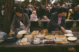 Cutting the Pies and Cakes at the Barbeque Dinner, Pie Town Photographic Print