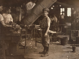 Carrying-In Boy in Alexandria Glass Factory, Alexandria, VA Photographic Print