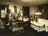 Overcrowded Home of Workers in Cotton Mill, Olneyville, Providence Photographic Print