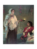 Florence Nightingale in Scutari, Lady with the Lamp Giclee Print