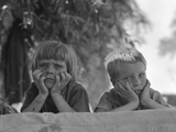 Children of Oklahoma Drought Refugee in Migratory Camp in California Photographic Print