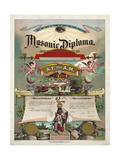 Masonic Diploma Giclee Print