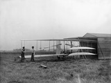 Wilbur and Orville Wright with their Second Powered Machine Photographic Print