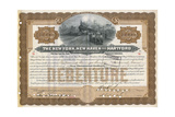 Rail Share Certificate Giclee Print