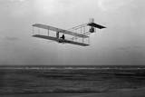 Three-Quarter Left Rear View of Glider in Flight at Kitty Hawk Photographic Print