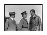 Orville Wright, Major John F. Curry, and Colonel Charles Lindbergh Photographic Print
