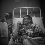Mrs Middleton in Hospital Photographic Print
