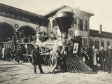 Engine Nashville of the Lincoln Funeral Train Photographic Print