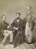 Lincoln and His Secretaries, Nicolay and Hay Photographic Print
