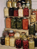 Display of Home-Canned Food Photographic Print