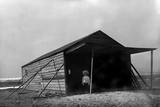 Tom Tate in Front of Camp Building at Kitty Hawk, North Carolina Photographic Print