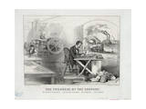 The Progress of the Century - the Lightning Steam Press Giclee Print