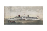 The Great American Steamer, General Washington Giclee Print