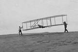 Orville Wright and Glider, Kitty Hawk Photographic Print