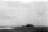 Distant View of the Wright Brothers' Camp at Kitty Hawk Photographic Print