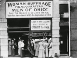 Woman Suffrage Headquarters in Cleveland Photographic Print