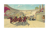 The Ben Hur Chariot Race Giclee Print