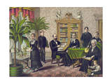 James Garfield and Family in Library Giclee Print