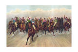 Horses in a Race, Horse Racing Giclee Print