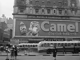 New York, New York, Camel Cigarette Advertisement at Times Square Photographic Print