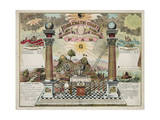Emblematic Chart and Masonic History of Free and Accepted Masons Giclee Print