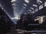 Santa Fe RR Locomotive Shops, Topeka, Kansas Photographic Print
