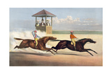 Harry Bassett and Longfellow in their Great Races at Long Branch, NJ Giclee Print