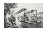 Mississippi Steamboat Race Giclee Print