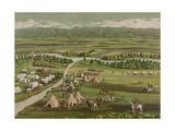 Denver in 1859 Giclee Print
