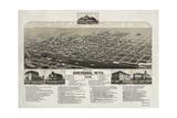 Bird's Eye View of Cheyenne, Wyo., County Seat of Laramie Co Giclee Print