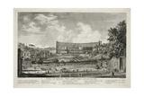 Veduta Dell' Anfiteatro Flavio Oggidl Colosseo Osservato Dal Celip Giclee Print