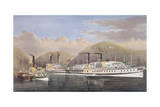 American Steamboats on the Hudson Giclee Print