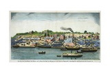 North River Blue Stone Works of John Maxwell and the Bigelow Giclee Print