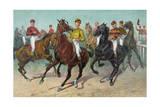 Jockeys Horse Racing Giclee Print