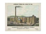 Barbour's Flax Thread Works. Patterson, New Jersey Giclee Print