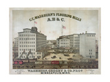 C.C. Washburn's Flouring Mills Giclee Print