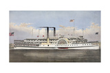 Steamers City of Troy and Saratoga Giclee Print