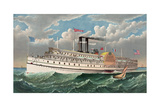 The Grand New Steamboat Pilgrim: the Largest in the World Giclee Print