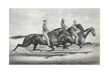 Toronto Chief, General Butler, and Dexter: in their Great Race under Saddles Giclee Print