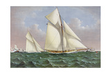 Mayflower Sailing Ship, Americas Cup Giclee Print