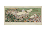 Paris-Rome. Beaumont Le Gagnant Sur Monoplan Bleriot, Moteur Giclee Print