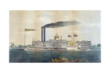 High Pressure Steamboat Mayflower First Class Packet Between Giclee Print