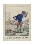 Bref Du Pape En 1791 Giclee Print