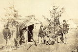 Drummer Boys Off Duty, Playing Cards in Camp, Winter of 1862 Photographic Print