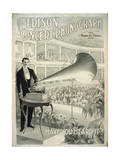 The Edison Concert Phonograph Have You Heard It Giclee Print