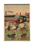 Display of Vehicles in Takanawa, Tokyo Giclee Print