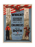 Which Soldier or Mechanic Giclee Print
